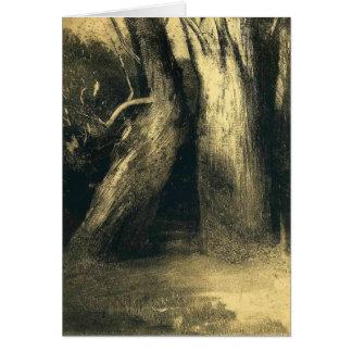 Odilon Redon- Two trees Card