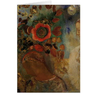 Odilon Redon- Two Young Girls among the Flowers Card