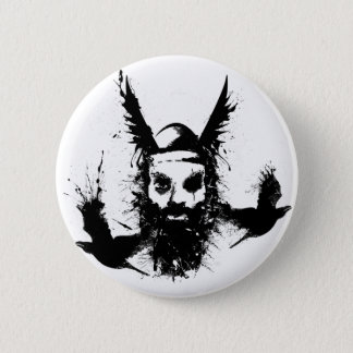 Odin and Crows Button
