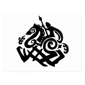 Odin and Sleipnir Postcard