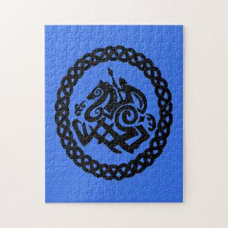Odin and Sleipnir silhouettes Jigsaw Puzzle