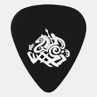 Odin And Slepinir White Silhouette Guitar Pick