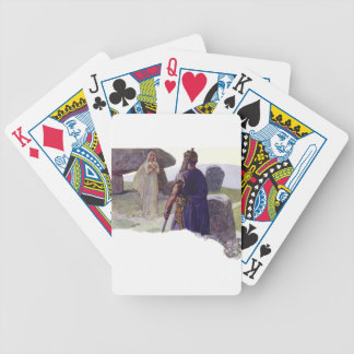 Odin in front of a Völva Bicycle Playing Cards