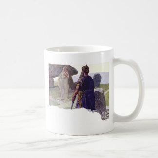 Odin in front of a Völva Coffee Mug