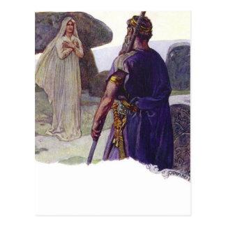 Odin in front of a Völva Postcard