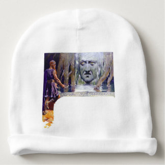 Odin in front of Mimir Baby Beanie