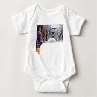 Odin in front of Mimir Baby Bodysuit