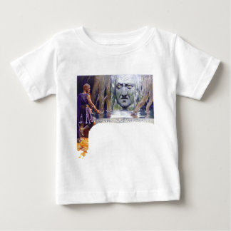 Odin in front of Mimir Baby T-Shirt
