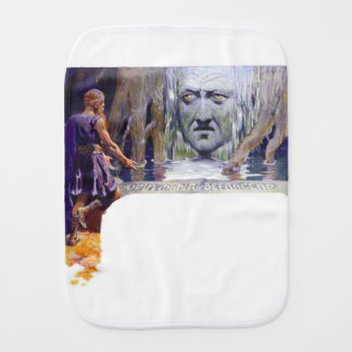 Odin in front of Mimir Burp Cloth