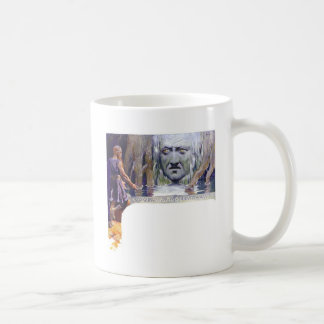 Odin in front of Mimir Coffee Mug
