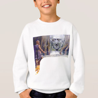 Odin in front of Mimir Sweatshirt