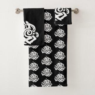 Odin on Sleipnir silhouette Bath Towel Set