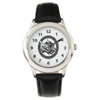 Odin Silhouette in a Celtic Knot Circle Watch