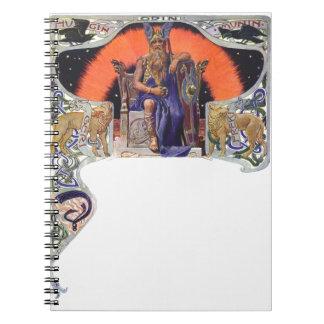 Odin the allfather spiral notebooks