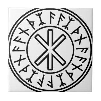 Odin's Protection No.2 (black) Small Square Tile