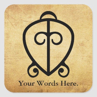 Odo Nnyew Fie Kwan | Power of Love Symbol Square Sticker