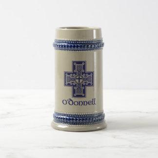 O'Donnell logo Blue Stein Mug