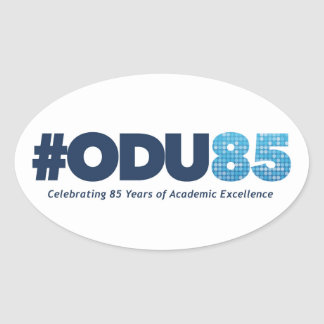 ODU 85th Anniversary Oval Sticker