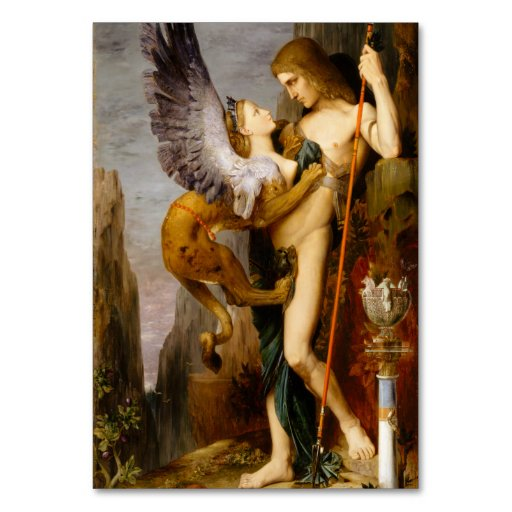 Oedipus and the Sphinx by Gustave Moreau, 1864 Table Cards