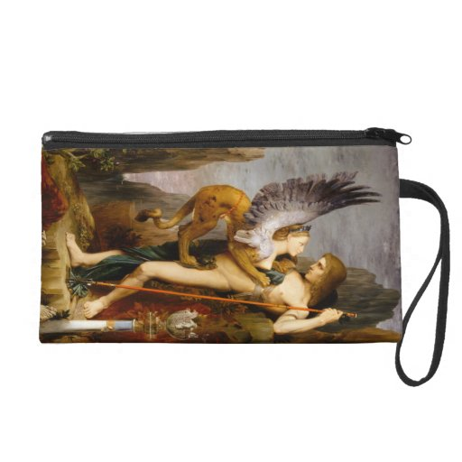 Oedipus and the Sphinx by Gustave Moreau Wristlet Purses