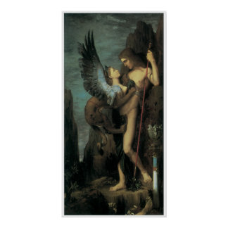 Oedipus and the Sphinx Poster