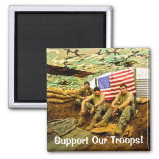 OEF Soldiers, Support Our Troops Magnet