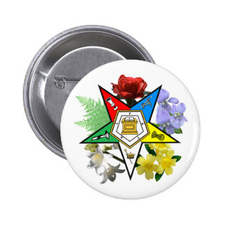 OES floral Emblem Button