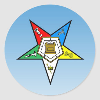 OES Order of the Eastern Star Blue Round Sticker