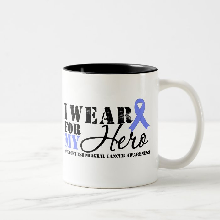 Oesophageal Cancer Hero Ribbon Two-Tone Coffee Mug