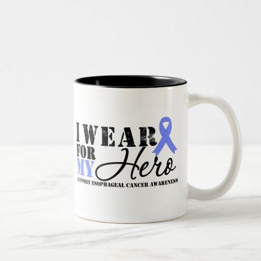 Oesophageal Cancer Hero Ribbon Two-Tone Mug