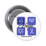 Oesophageal Cancer Hope Love Inspire Awareness Pinback Button