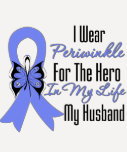 Oesophageal Cancer Ribbon Hero My Husband