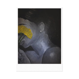 of a Girl Hidden Canvas Print