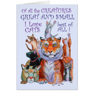 Of All the Creatures Great and Small Card