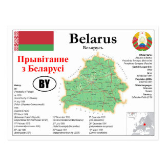 Of Belarus map Postcard