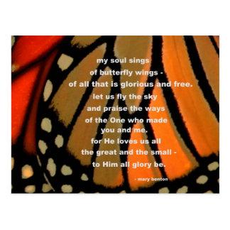 Of butterfly wings postcard