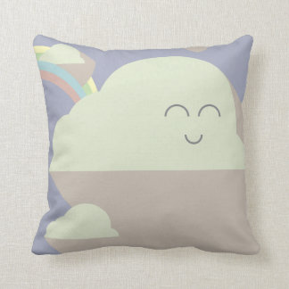 of clouds and rainbows cushion