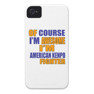 Of Course I Am American Kenpo Fighter iPhone 4 Cases