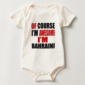 OF COURSE I AM AWESOME I AM BAHRAINI BABY BODYSUIT
