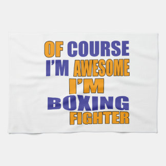 Of Course I Am Boxing Fighter Tea Towel