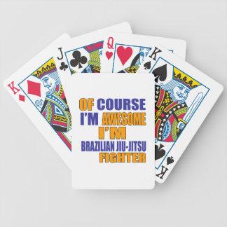 Of Course I Am Brazilian Jiu-Jitsu Fighter Bicycle Playing Cards