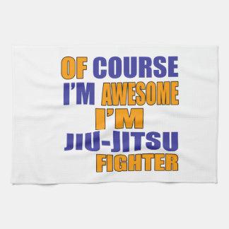 Of Course I Am Jiu Jitsu Fighter Tea Towel
