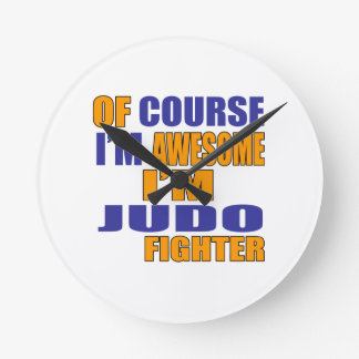 Of Course I Am Judo Fighter Wall Clock