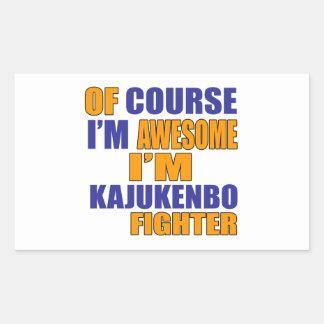 Of Course I Am Kajukenbo Fighter Rectangular Sticker
