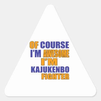 Of Course I Am Kajukenbo Fighter Triangle Sticker