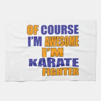 Of Course I Am Karate Fighter Tea Towel