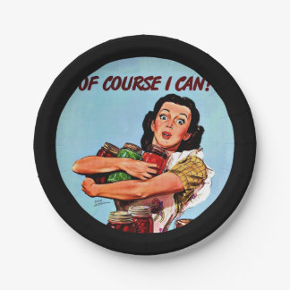 Of Course I Can! Paper Plate