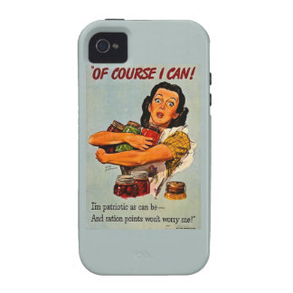 Of Course I Can! Vintage Retro World War II Case For The iPhone 4