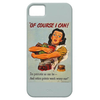 Of Course I Can Vintage Retro World War II Case For iPhone 5/5S