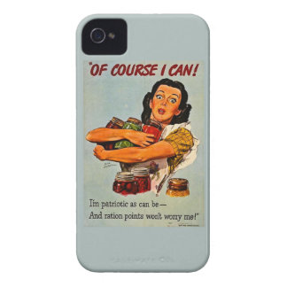 Of Course I Can Vintage Retro World War II iPhone 4 Case-Mate Cases